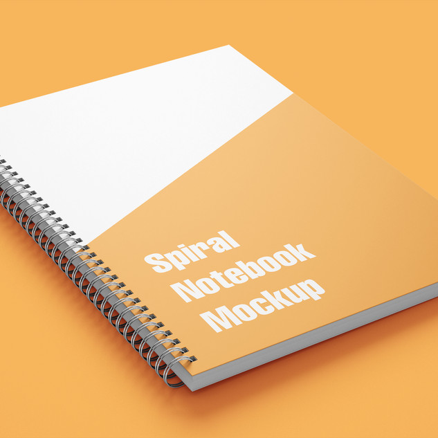 Mockup Caderno