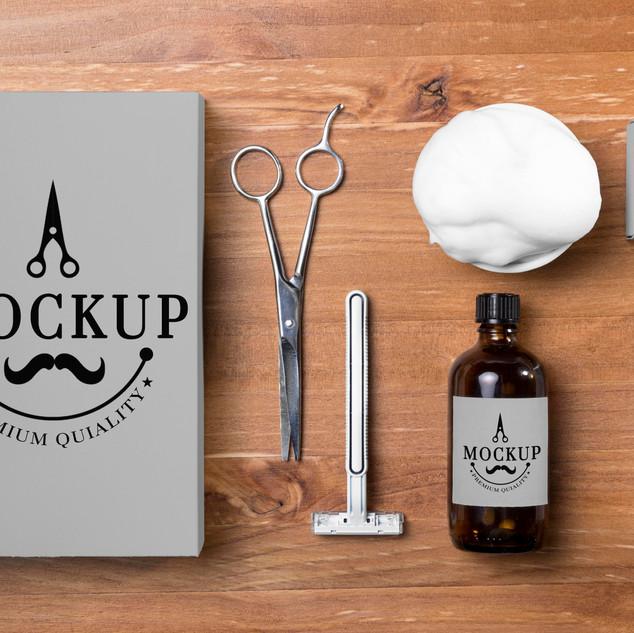 Mockup Produtos de Barbearia
