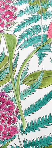 Sweet Williams and tulip print design