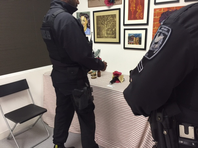Police viewing my artomatic show