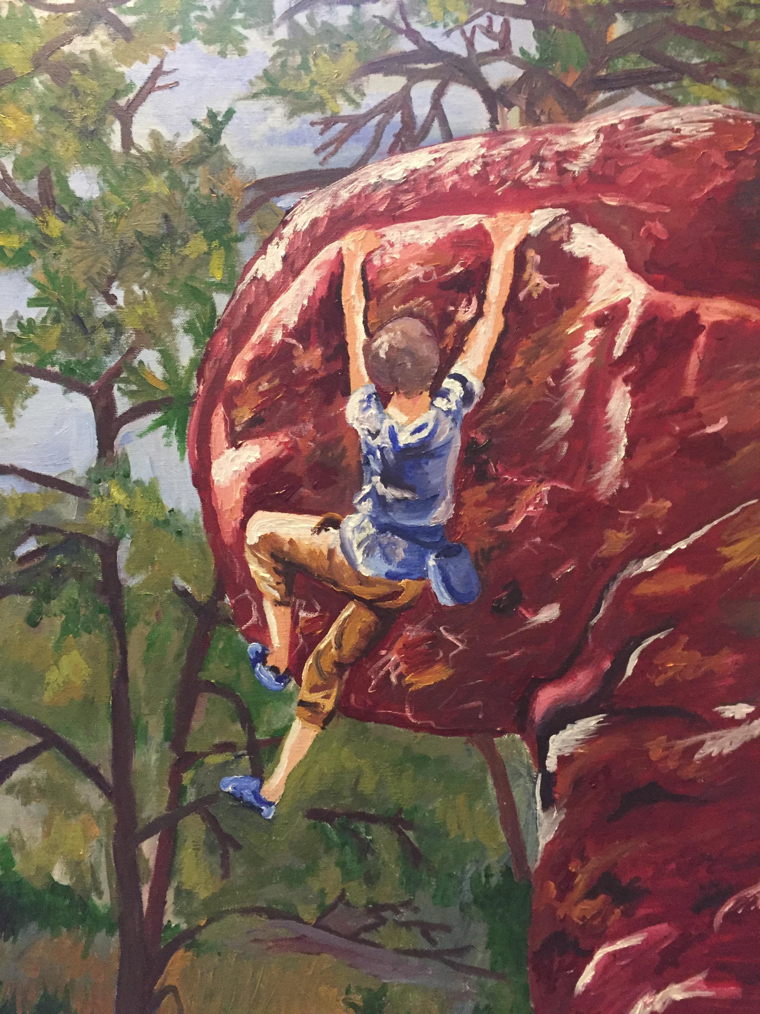 painting rock climbing