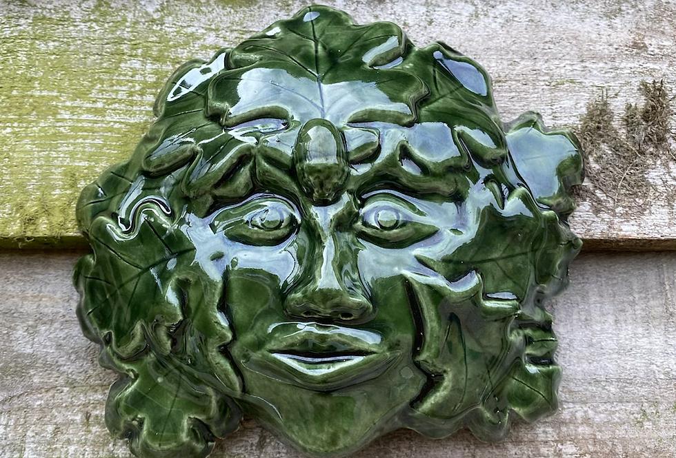 Bottle green Greenman mask