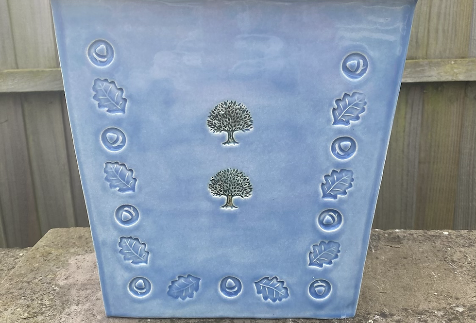 Sky blue medium planter