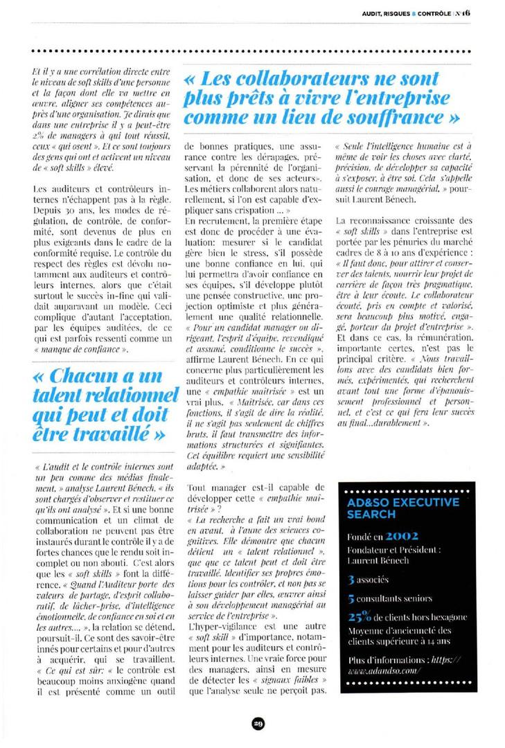Article et Couverture Ad&So - IFACI - dé