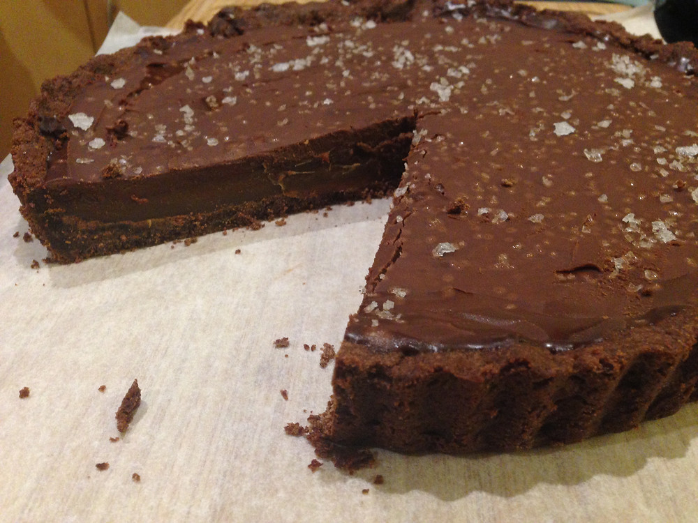 Brisbane Foodie's first attempt at Donna Hay's Chocolate Salted Caramel Tart.