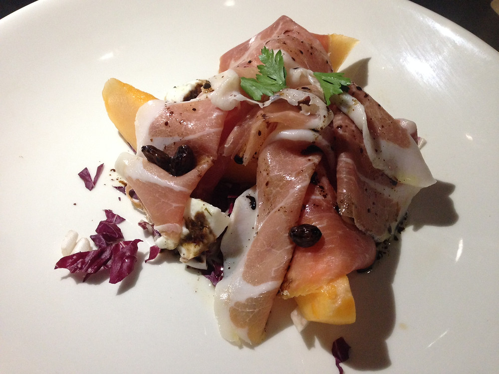 prosciutto and melon at Locanda Osteria.