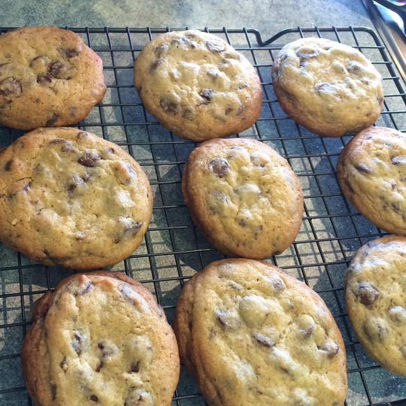 Recipe: DH's Chewy Choc Chip Cookies