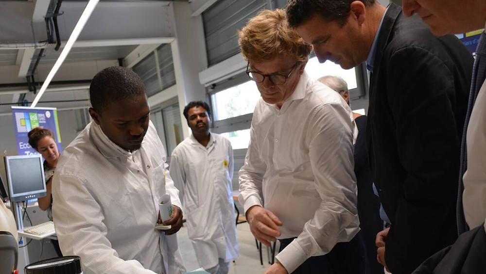 Marc Fesneau visite le Campus ESPRIT