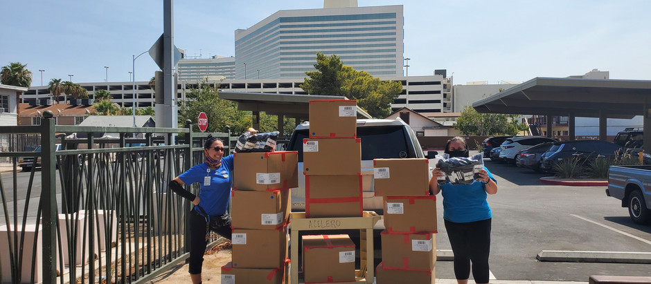 Bombas socks for all police stations backpack giveaway.