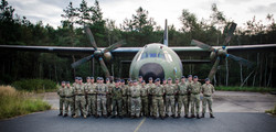 Squadron Photo with Host
