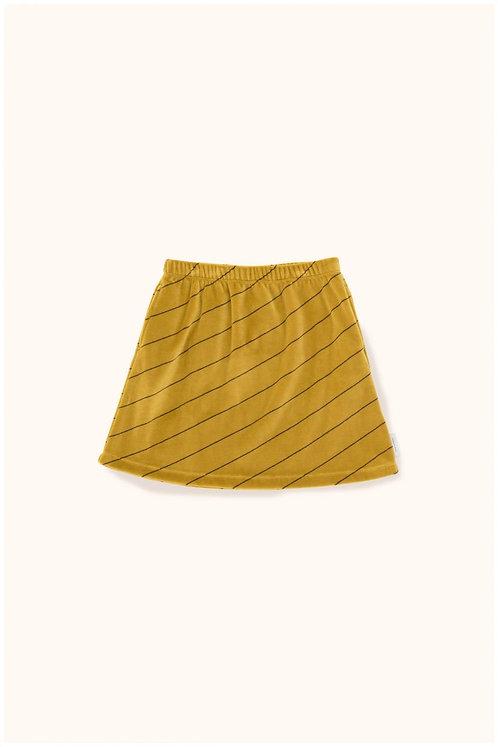 Diagonal Stripes plush skirt