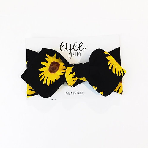 Top Knot Headband- Sunflower