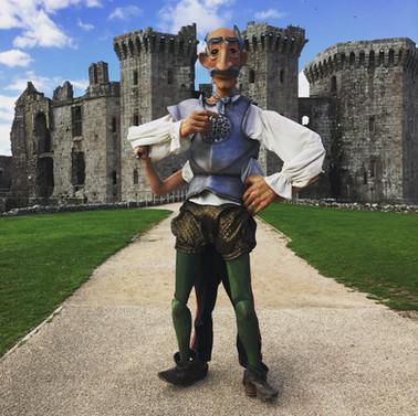 Don Quixote at Raglan Castle