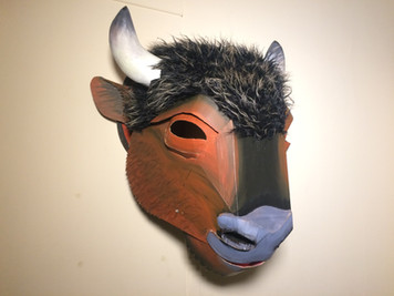 Mounted Bison Mask Commission (2016)