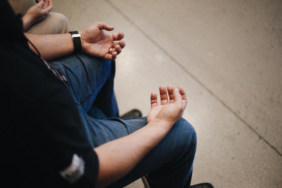 Palestra sobre meditação na Volvo