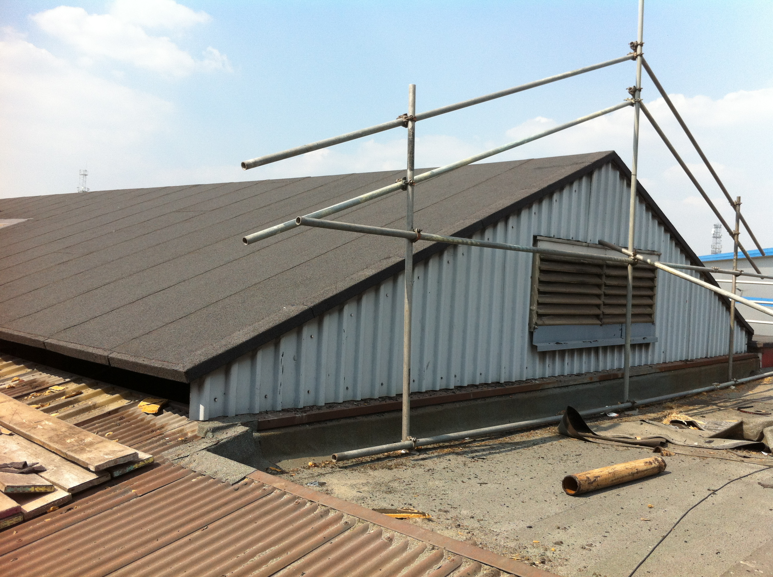 Safe working Flat roofing