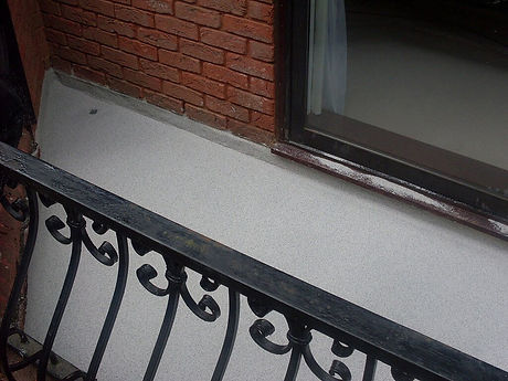 balcony waterproofing anti slip walk way