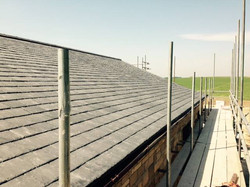 Slated roof complete