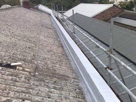 Asbestos Gutter Liquid resin lining