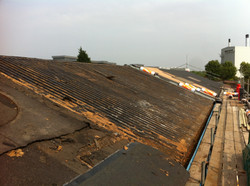 View of Metal Deck Roof Stripped