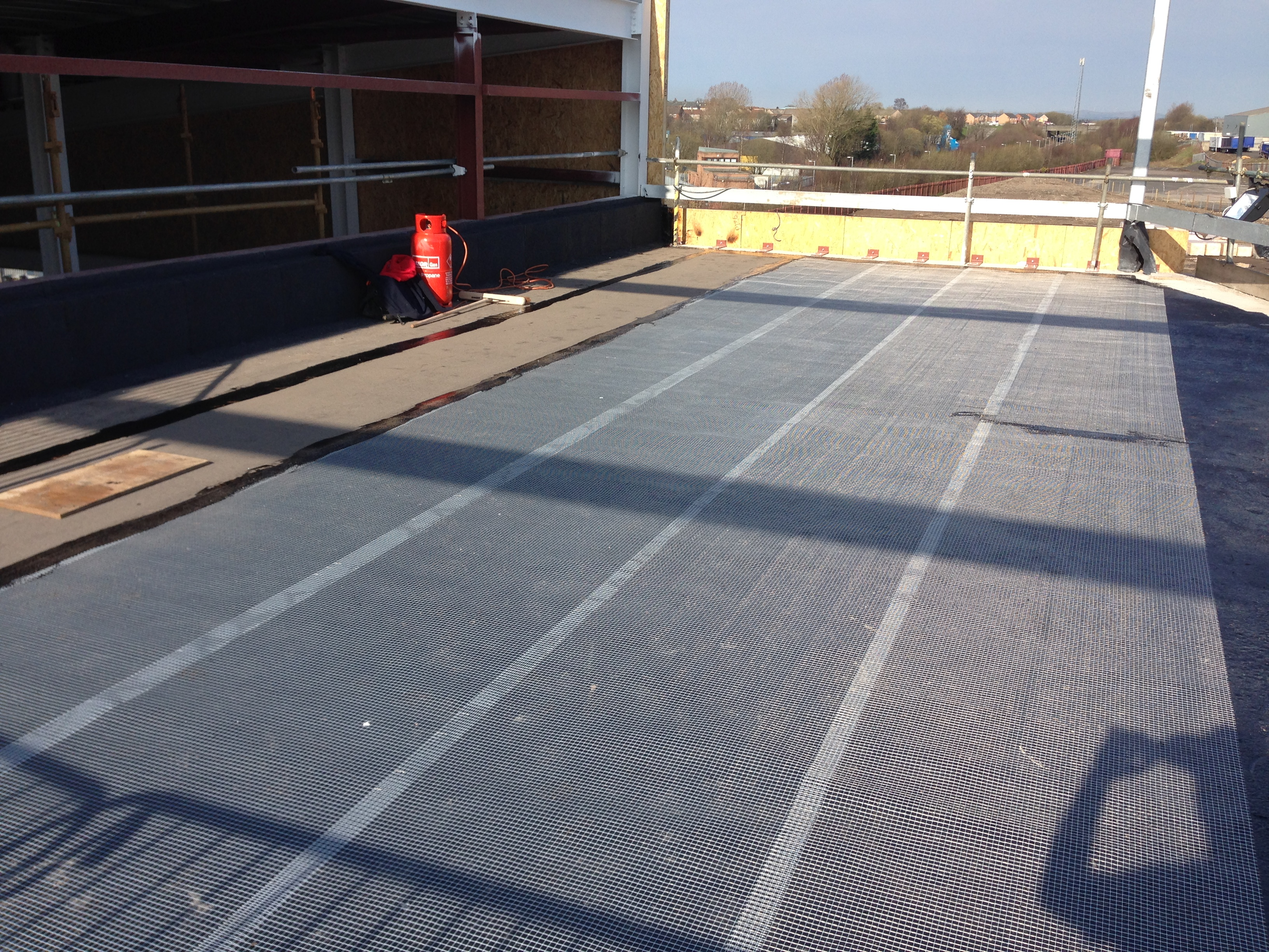reinforcing matting installed
