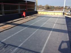reinforcing matting installed