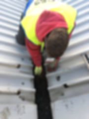 Metal gutter cleaning service