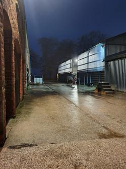 night time yard