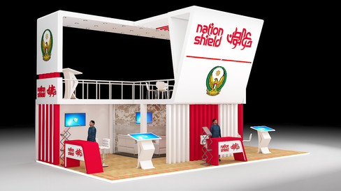 Exhibition Stand Design for Nation Shield UAE