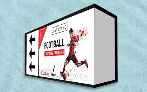 Football billboard calling crazy fans