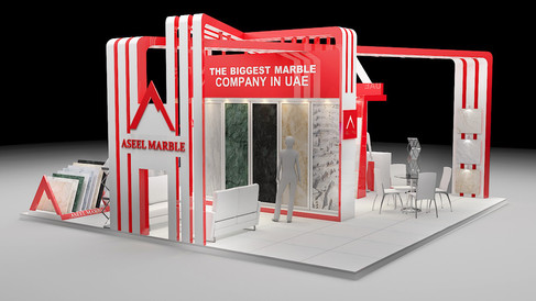 Stunning Exhibition Stand for Aseel Marble