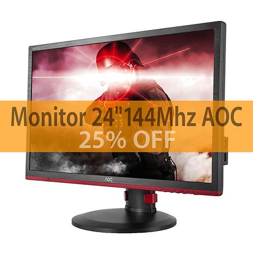 Monitor AOC 24,0 1920 X 1080 FULL HD WIDESCREEN 1MS 144HZ FREESYNC VGA DVI HDMI