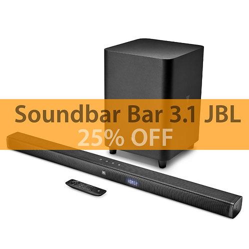 Soundbar JBL Bar 3.1 Channel 4K Ultra HD Soundbar Wireless Subwoofer Bluetooth