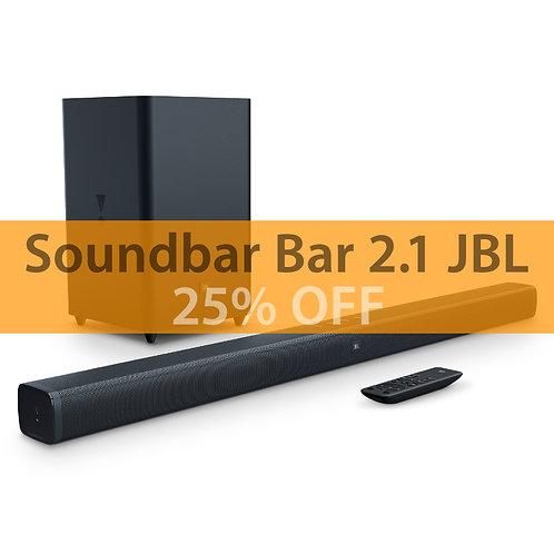 Soundbar JBL Bar 2.1 Channel Soundbar com Wireless Subwoofer Bluetooth