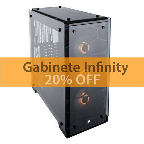 Gabinete Infinity de Vidro MXTC-903RGB (3 ventiladores)