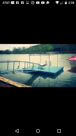 floating dock and walk way
