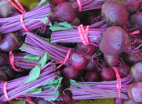 Roasted Beet Salad with Red Onion
