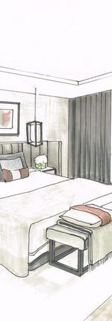 Elegant Master Bedroom Contemporary LWE