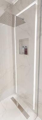 illuminated shower design LWE Interiors