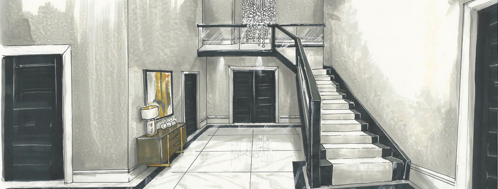 Luxury entrance hall