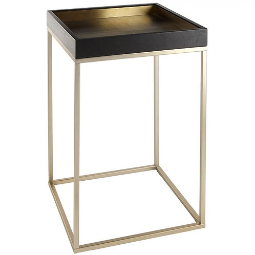 Alyn side table with Brass Trim