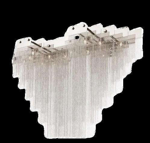 Della Nickel Contemporary Chain Pendant