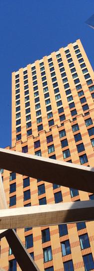 symphony building amsterdam zuidas architecture lines sculptures