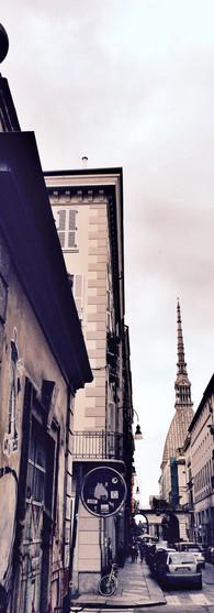 vintage torino la mole antonelliana street italy