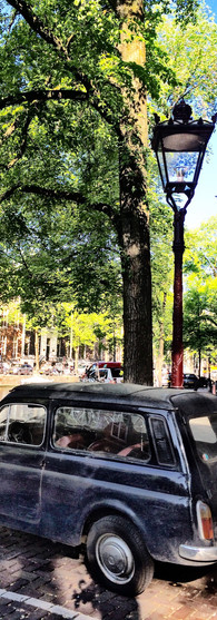 fiat 500 topolino herengracht amsterdam centrum summer stationcar old car iphoneonly
