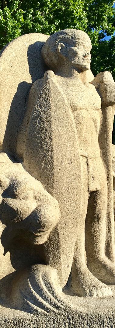 beeld jan van galenstraat oud-west amsterdam leeuw krijger lion warrior iphoneonly
