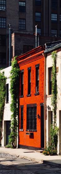 USA   old houses near Washington Square Park, New York City