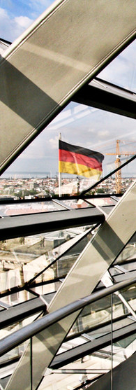 Germany   in the dome of the Reichstag in Berlin