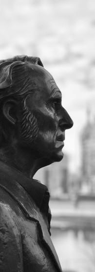 statue carel willink near rijksmuseum museumkwartier amsterdam iphoneonly
