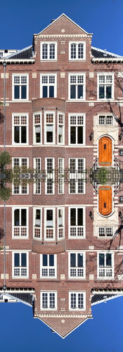 semi detached symmetry of houses in oud zuid amsterdam